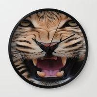leopard Wall Clocks featuring Leopard   by Brian Raggatt