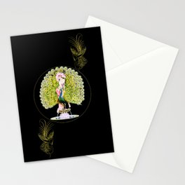 Art Deco Diva Rivalry Stationery Cards