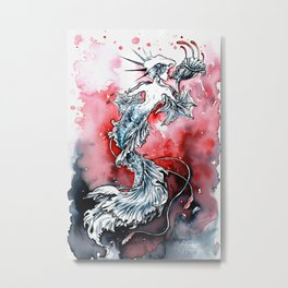 Mermaid Riot Metal Print