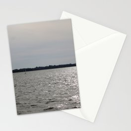 lonely sailboat Stationery Cards