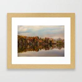 Autumn At Lake LaJoie 2 Framed Art Print