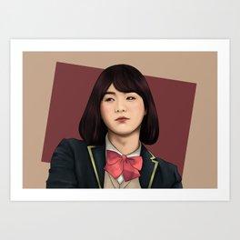 BTS SUGA FEMALE FANART Art Print
