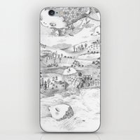voyage iPhone & iPod Skins featuring Voyage by Maureen Poignonec