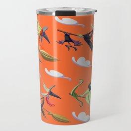 Witchy witches of Salem (orange) Travel Mug