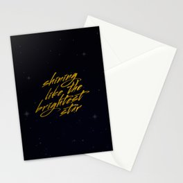 Shining Like The Brightest Star Stationery Cards