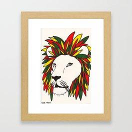 rasta lion Framed Art Print