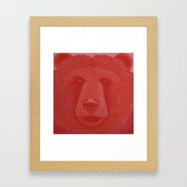 Vermillion Bear Framed Art Print