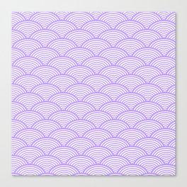 Lavender Art Deco Wave Canvas Print