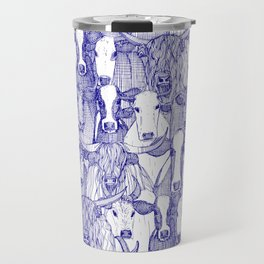 just cattle blue white Travel Mug