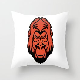 Angry Gorilla Throw Pillow