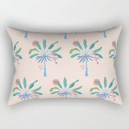 Neon Banana Tree Rectangular Pillow