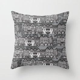 Liberty store. London Throw Pillow