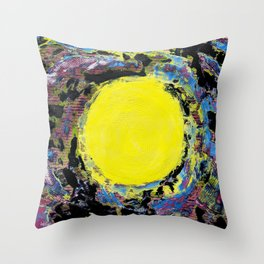 Scrambled Eggs: But She has some Great Ideas (Yellow Dot ) Throw Pillow
