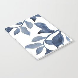 Indigo Leaves Watercolour painting Notebook