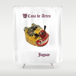 Ceremonial Jaguar Mask Casa de Artes - Antigua Guatemala Shower Curtain