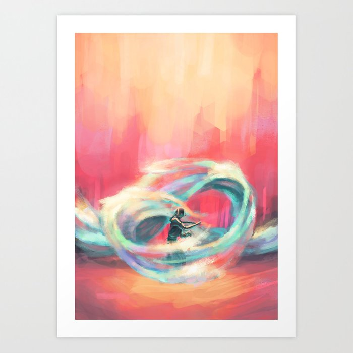 Waterbender Kunstdrucke