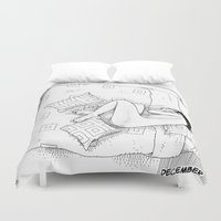 apollonia Duvet Covers featuring asc 547 - My New Year's resolutions - December by From Apollonia with Love