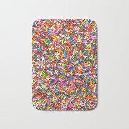 Rainbow Sprinkles Sweet Candy Colorful Bath Mat