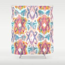 lollipop balinese ikat Shower Curtain