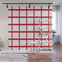 Abstraction from the Flag of england Wall Mural