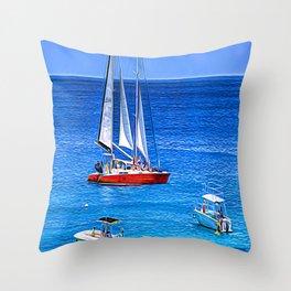 Barbados Expressionism Throw Pillow