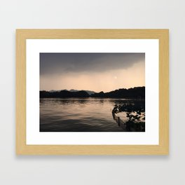 PERSPECTIVE // Sunset over West Lake, Hangzhou Framed Art Print