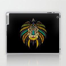 Tribal Lion on Black Laptop & iPad Skin