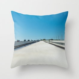 Road Tripping in Florida Throw Pillow