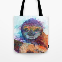 Sloth Mixed Media on Yupo Tote Bag