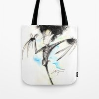 edward scissorhands Tote Bags featuring Edward Scissorhands by alexviveros.net