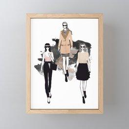 Fashionary 4 Framed Mini Art Print