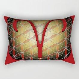 Flower of Life ARIES Astrology Design Rectangular Pillow
