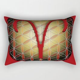 ARIES Flower of Life Astrology Design Rectangular Pillow