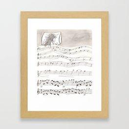 Sheet Music Framed Art Print