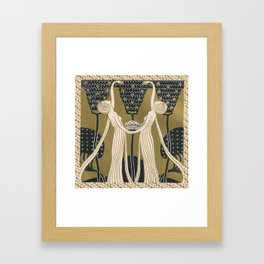 Art Nouveau Women Framed Art Print