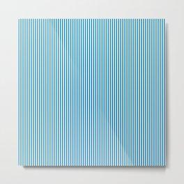 Blue Pinstripes Metal Print