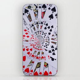 Poker Royal Flush All Suits Droste Spiral iPhone Skin