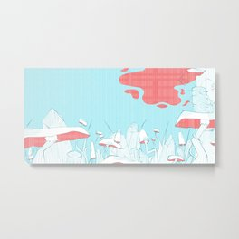 Magical Mushroom Forest Metal Print