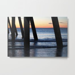 Underneath The Pier Metal Print