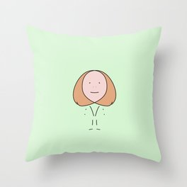 Stick Figure Throw Pillow