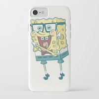 spongebob iPhone & iPod Cases featuring Spongebob Squarepants by gem ☮