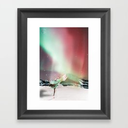 DANCE WITH AURORA Framed Art Print