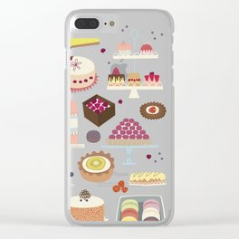 Patisserie Cakes and Good Things Clear iPhone Case