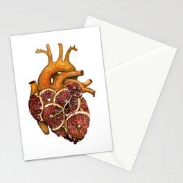 Blood Orange Heart Stationery Cards