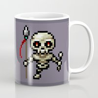 skeleton Mugs featuring Skeleton by HOVERFLYdesign
