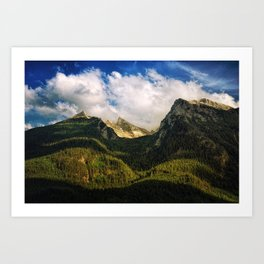 All That Is Above - Mountainscape Art Print
