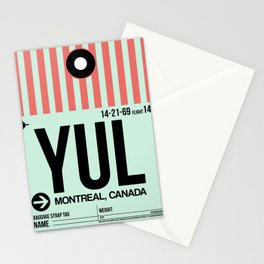 YUL Montreal Luggage Tag 2 Stationery Cards