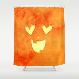 Lovey Jack O' Latern Shower Curtain