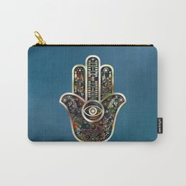 Hamsa Mosaic Carry-All Pouch