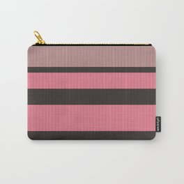 Simple brown pink stripes Carry-All Pouch